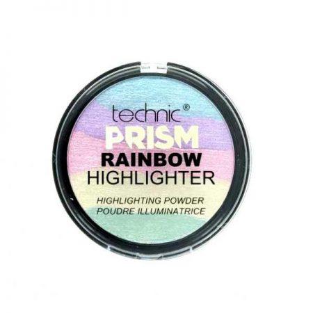 Paleta Iluminatoare Multicolora TECHNIC Prism Rainbow Highlighter Powder 6g